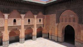 Двор Бен Youssef Medersa стоковое изображение rf