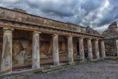 Двор ванн Terme Stabiane Stabian в Помпеи Стоковое Изображение
