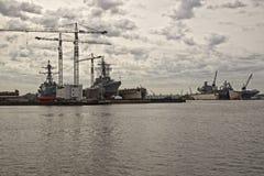 Двор военного корабля Porstmouth Вирджинии Стоковое Фото