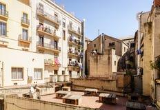 Двор в Барселоне стоковое изображение rf