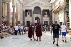 Двор в дворце ` s Diocletian, разделение, Хорватия Стоковая Фотография
