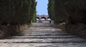 Двор в монастыре нашей дамы стоковые изображения rf