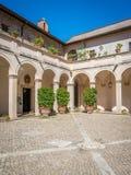 Двор в ` Este виллы d, Tivoli, Лацие, центральной Италии Стоковое фото RF