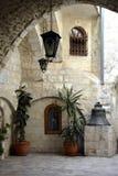 Двор греческого патриархата Иерусалима, христианского квартала, старого города Стоковое Изображение