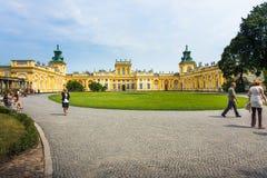 Двор дворца Wilanow главным образом, Варшава Стоковое Фото
