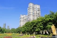 Двор жилого района hubinshoufu shimao Стоковое Изображение