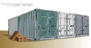 Двор контейнера иллюстрация штока