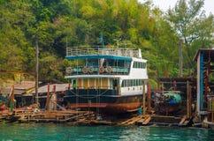 Двор корабля для более больших шлюпок Стоковые Фото