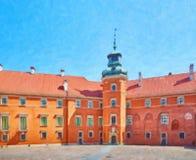 Двор королевского замка в Варшаве Стоковые Фотографии RF
