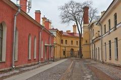 Двор крепости Питера и Пола Стоковое Фото
