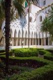Двор монастыря рая в Амальфи Стоковая Фотография