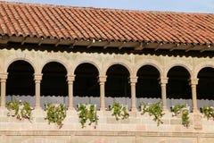Двор монастыря Санто Доминго в комплексе Koricancha, Cus Стоковое Изображение RF