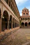 Двор монастыря Санто Доминго в комплексе Koricancha, Cus Стоковое фото RF