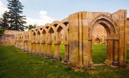 Двор монастыря Сан-Хуана de Duero на Сории Стоковые Фото