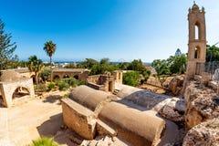 Двор монастыря Ayia Napa Ayia Napa, Кипр Стоковое Изображение