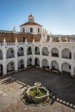 Двор монастыря San Felipe Neri - Сукре, Боливия Стоковое фото RF