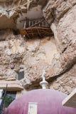 Двор монастыря St. George Hosevit mar Jaris в вадях Kelt около Mitzpe Yeriho в Израиле Стоковое Фото