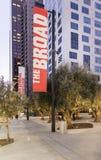 Двор обширного музея современного искусства на сумраке Стоковая Фотография RF