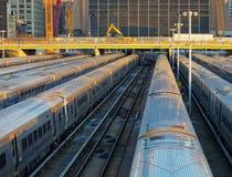 Двор поезда стоковое фото