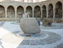 Двор старого города Баку стоковые изображения rf