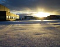 Двор фабрики Стоковое фото RF