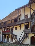 Двор церковь-крепости Prejmer, самая большая церковь-крепость в юговосточной Европе Стоковое Изображение