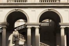 Двор Accademia di Brera стоковое изображение rf
