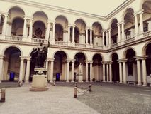 Двор Brera Pinacoteca Стоковое Фото