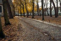 Двор 10 Wijngaerde Брюгге Béguinage, Бельгия Стоковая Фотография RF