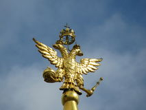 Двуглавый орел - герб страны России Стоковое фото RF