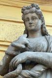 Двуколка богини (в мифологии древнегреческия она дает к ему людей Стоковые Изображения