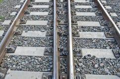 Двухпутная железная дорога Стоковое Фото