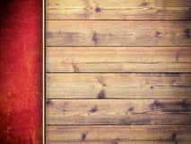 Двухслойная предпосылка - бетонная стена и планки Стоковые Фото