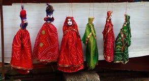 Двухсторонние античные куклы Kochi Индия Стоковые Изображения