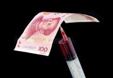 Девальвация RMB Стоковые Изображения