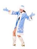 девичий снежок стоковая фотография