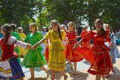 Девичьи танцы Стоковое фото RF