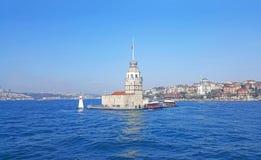 Девичья башня Стамбул ` s, Bosphorus стоковое изображение rf