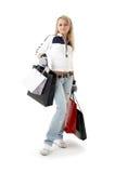 Девочка-подросток покупок стоковое изображение