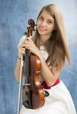 Девочка-подросток с альтом Стоковое Изображение