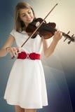 Девочка-подросток с альтом Стоковые Фотографии RF