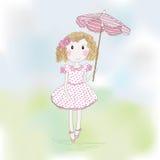 Девочка-подросток шаржа Стоковое Изображение RF