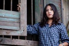 Девушка азиата портрета Стоковое Фото