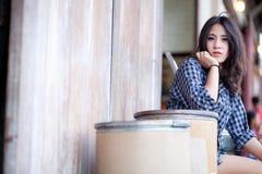 Девушка азиата портрета Стоковые Изображения