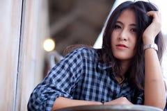 Девушка азиата портрета Стоковое Изображение RF