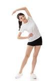 Девушка азиата фитнеса стоковое изображение rf