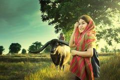Девушка азиатской страны Стоковые Изображения