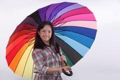 Девушка Азии улыбки милая стоковые изображения rf