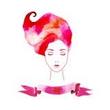 Девушка акварели Стоковая Фотография RF