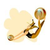 Девушка акробата цирка Стоковые Изображения RF